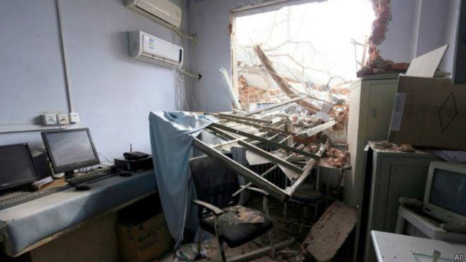 Çin Hasta ve doktorlar içindeyken hastane yıkıldı